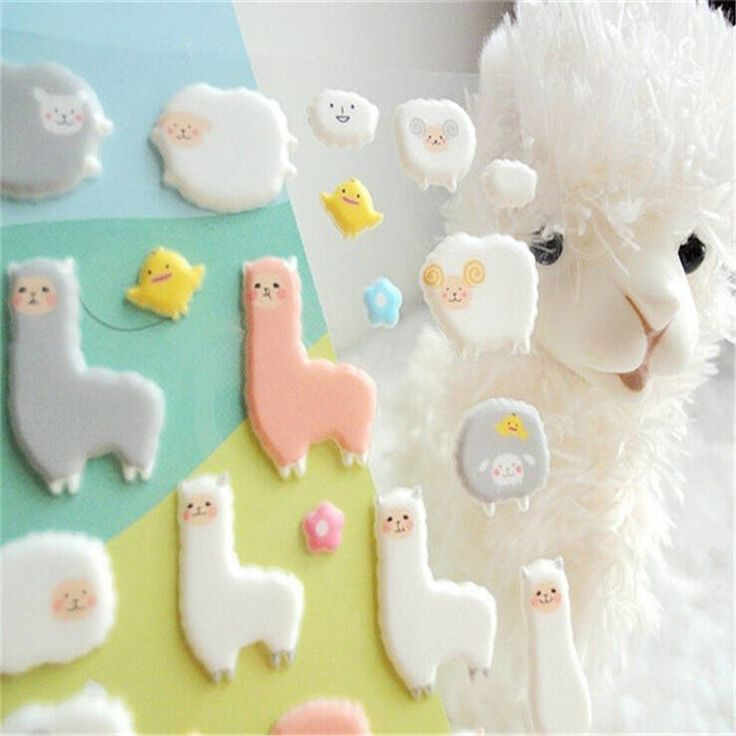 1pcs Sheet Korea Styling Kawaii 3D Cartoon Sheep Alpaca PVC Diary Stickers Scrapbook Decorative For Notebook Card Paper - Top Kawaii - Best Online Kawaii Shop Top Kawaii - Best Online Kawaii Shop