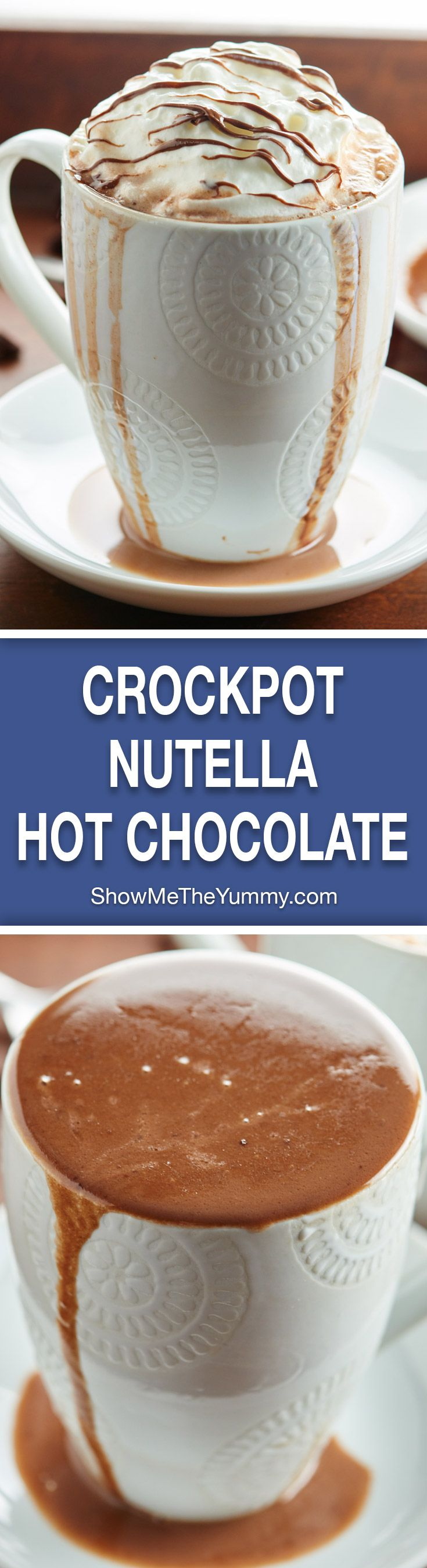 Making hot chocolate for a crowd - Crockpot Nutella Hot Chocolate