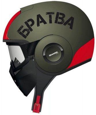 Shark Raw Soyouz Helmet - Matte Green/Red