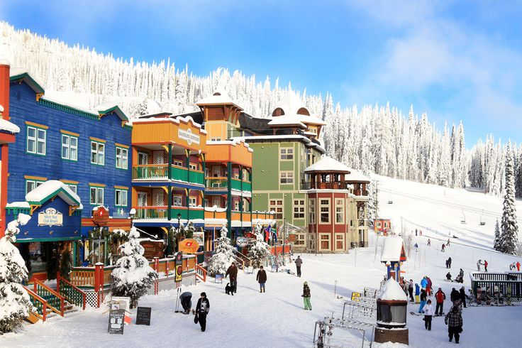 Amazing backdrop of Main Street at Silver Star Mountain