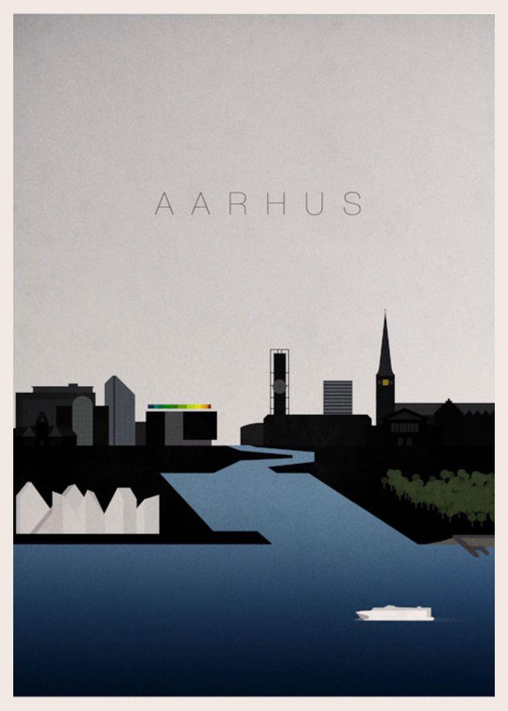 Aarhus er fyldt med spændende og smukke steder. Her ser du vores plakater, som har motiver af Aarhus.