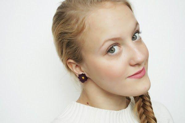 Riciclo creativo: orecchini fai da te con gli avanzi di tessuto | Foto
