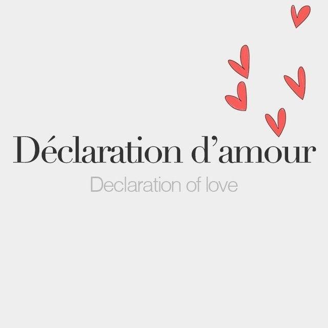 Declaration Damour Feminine Word Declaration Of Love