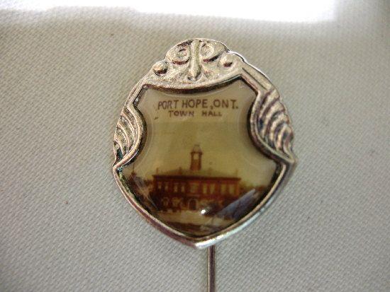 Vintage Souvenir Stick Pin Port Hope Town Hall by Vintageisnow