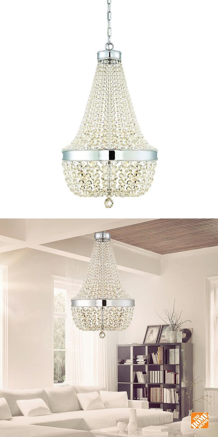 home decorators collection 6 light chrome crystal chandelier - Home Decorators Collection Lighting