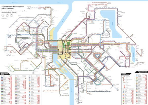Unofficial Map: Unified Transit Map of Riga, Latvia (2012) by Viteks Bariševs