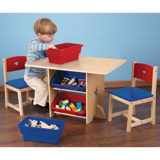 @Overstock.com - KidKraft Star Table and Chair Set - The Star Table and Chair Set is a perfect place for creative kids to sit down and let their imaginations run wild. This furniture set is fun and would look great in any kid's room.  http://www.overstock.com/Sports-Toys/KidKraft-Star-Table-and-Chair-Set/8233178/product.html?CID=214117 $115.99