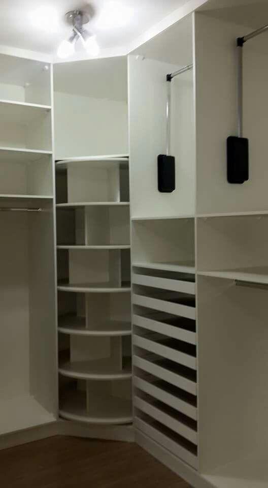 Arm rio com sapateira girat ria planejados pinterest for Closets para apartamentos pequenos