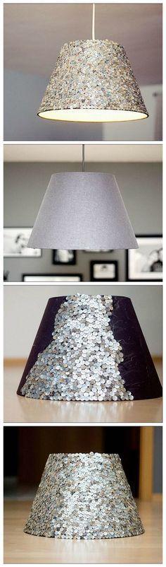 Kostenlose Anleitung: Lampenschirm mit Pailletten zum Glitzern bringen / free diy tutorial: upcycle your lamp with sparkling sequins via DaWanda.com