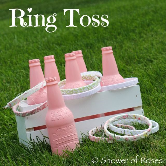 Shower of Roses: Old Fashioned Party Games :: Ring Toss & Fabric Wrapped Hula Hoops
