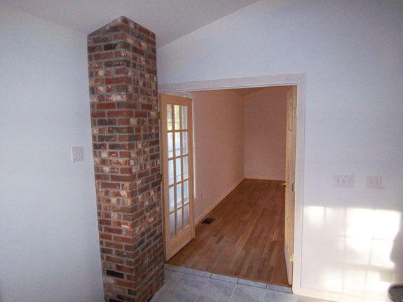Exposed brick chimney | Loft Renovation | Pinterest