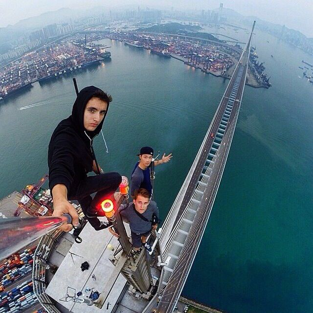 September 21, 2014  Photo by @sidorovv, @beerkus & @daniel__lau #HongKong #StonecuttersBridge #GoProOfTheDay