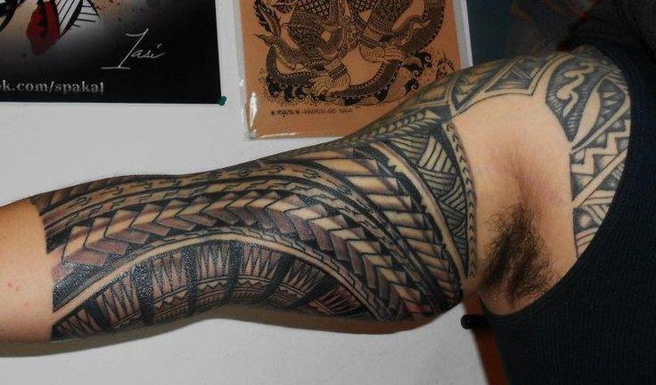 AMERICAN SAMOAN FOREARM TATTOOS | Photo Tatouage à Bandages Samoa sur l'Intérieur du Bras ou Biceps ...