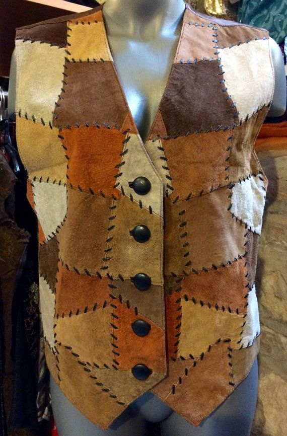 1970's patchwork suede leather hippie boho by nicevintageshop