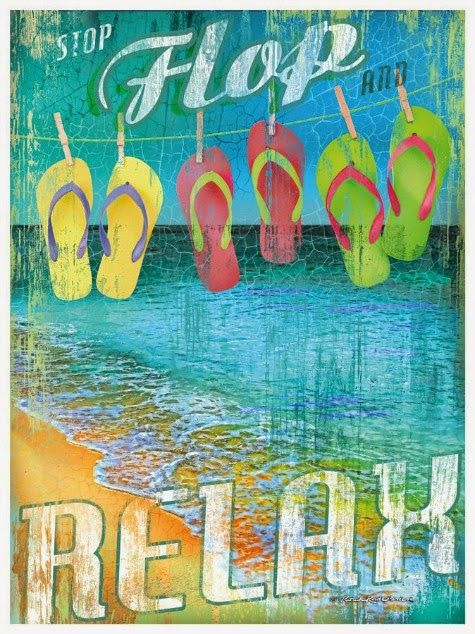 Coastal Canvas Art with Words to Celebrate Summer