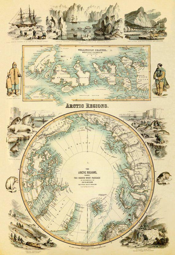 Arctica Map Marvelous Map Of The Arctic Regions Arctic Map