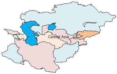 Geo Map - Central Asia