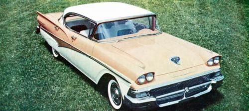 1958 Ford Fairlane 500 Town Victoria Hardtop Factory Photo J650 Fordclassiccars Ford Fairlane Ford Classic Cars Classic Cars
