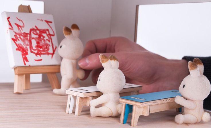 sala lekcyjna | TAMIDO - domek dla lalek | modern dollhouse