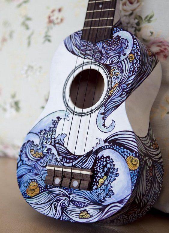 Pintura em violão