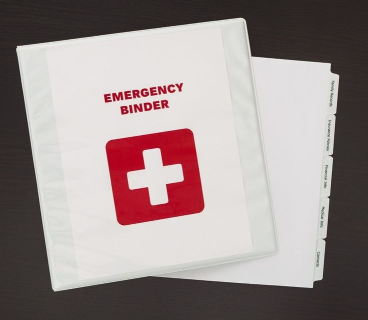 A Diy Grab And Go Emergency Binder In Case Of Disaster