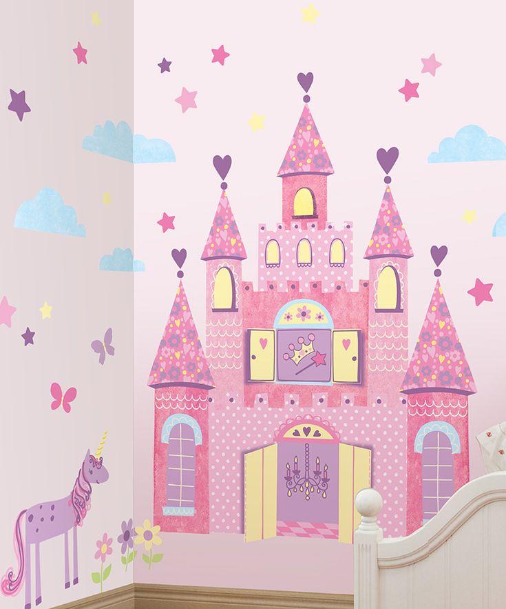 Purple Princess Castle Wall Decal Set