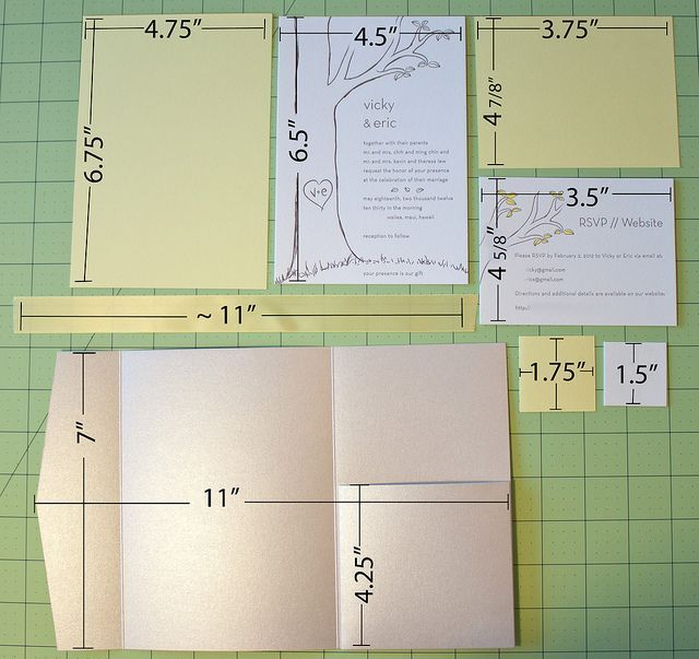 DIY wedding pocket fold invites I think it is probably worth it to buy the folder and matching envelopes  (cardsandpockets.com about $1/invite) but make your own  invite, background, RSVP postcard, info insert and belly band with monogram