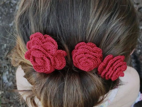 149 Best Crochet Hair Accessories Images On Pinterest | Crochet Flower Crochet Hair Accessories ...