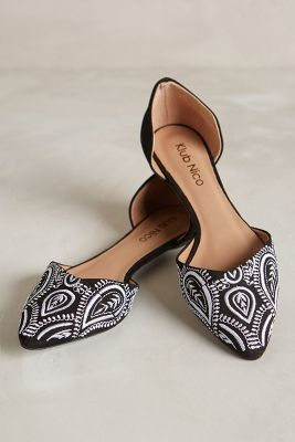 Printed Anthropologie Flats