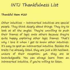Introvert Life: The Thankful INTJ. Thankful -20