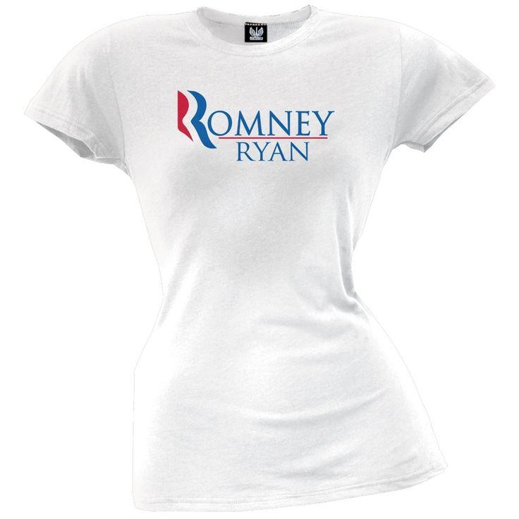 Romney and Ryan White Juniors T-Shirt