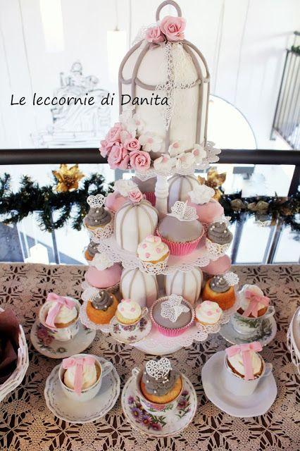 Le leccornie di Danita: Torta cup cake con gabbietta e sweet table