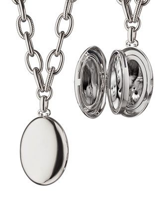 "Premier+Sterling+Silver+Locket+Necklace,+18""+by+Monica+Rich+Kosann+at+Neiman+Marcus."
