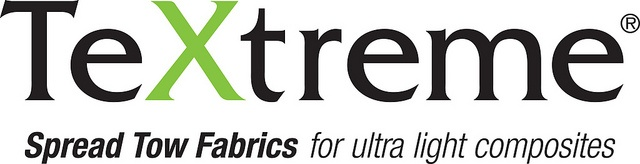TeXtreme® Spread Tow Fabrics logo with tagline.