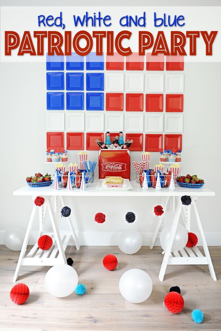 Check Out These Fun And Easy Diy Patriotic Party Decorating Ideas All With Tutorials For You To Create Patriotic Decorations Party Patriotic Party Blue Party
