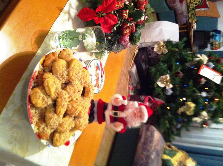 Greek Honey Cookies for the holidays - nice to keep hand for guests (can't straighten it out)