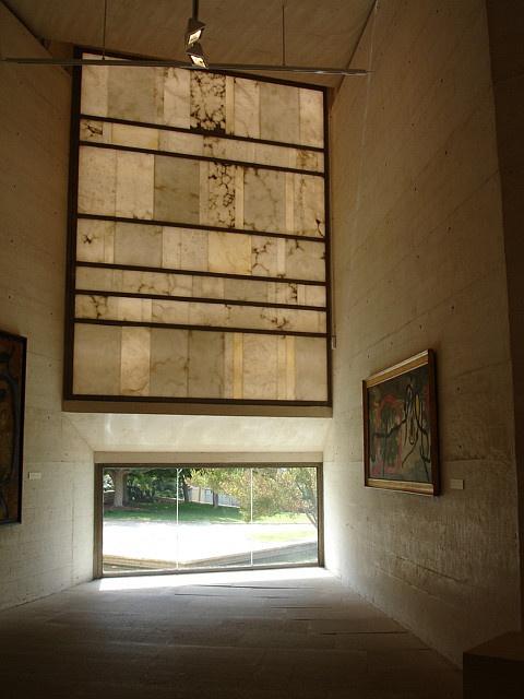 Rafael Moneo, Fondaion Miro, light, Mallorca by Boris Steinweg, via Flickr