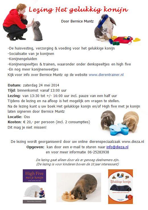 lezing het gelukkige konijn door bernice 24 mei 2014 bij Dieza