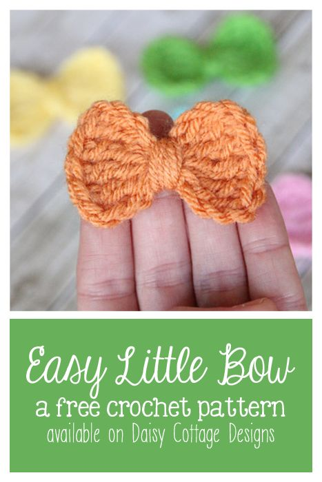 Crochet Bow Tie Pattern - Daisy Cottage Designs