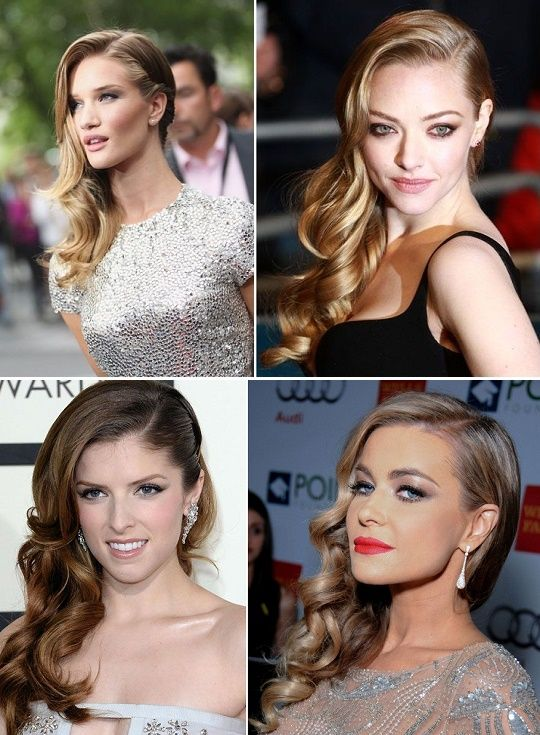 A Sweeping Style Statement with Side-Swept Curls