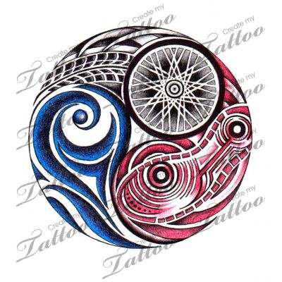 Marketplace Tattoo Triathlon #4477 | CreateMyTattoo.com