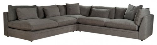 nice sectional-Emmett Sectional Three piece sectional upholstered in stone gray with own filled seat and back cushions W 87 /45 /80  D 45  H 36 u2026  sc 1 st  Pinterest : emmett sectional - Sectionals, Sofas & Couches