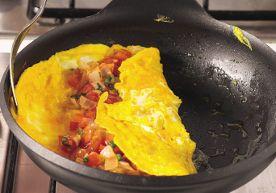 Omelette farcita girata