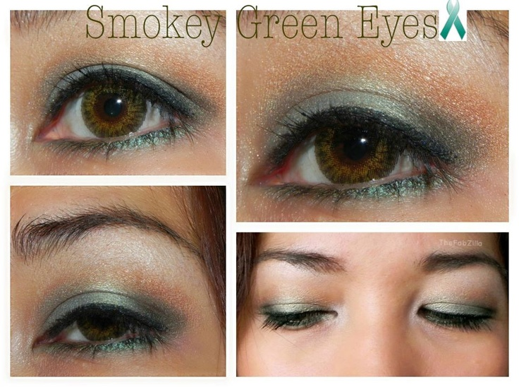 Urban Decay Green Eye Look For Depression Awareness Month And Fighting Depression- Guest Post from TheFabZilla ~ Bottles and Bottles of Polish