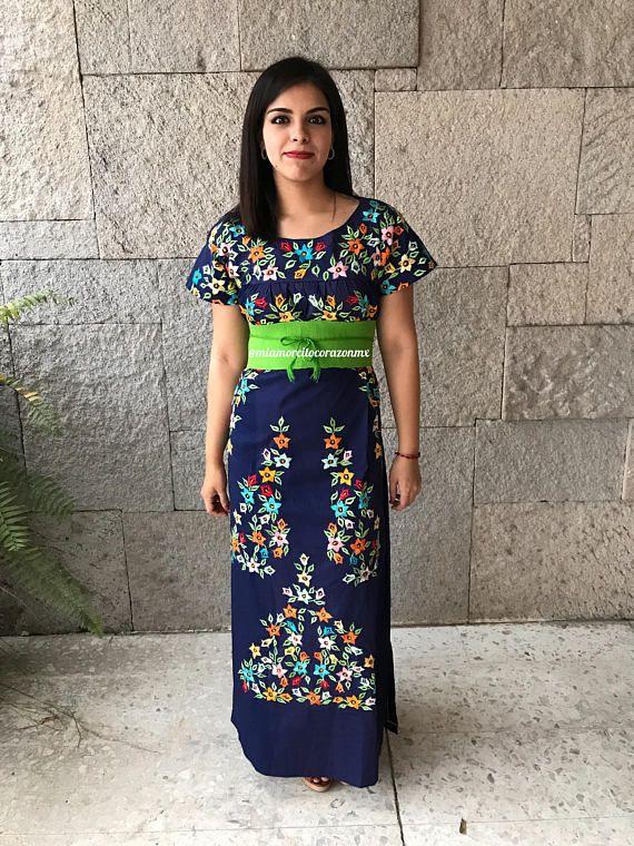 Mexican Dress Vintage 90s Vestido Mexicano Mexican Party