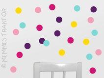 KONFETTI WANDTATTOO - 31 individuelle Produkte aus der Kategorie: Wohnen + Leben | DaWanda