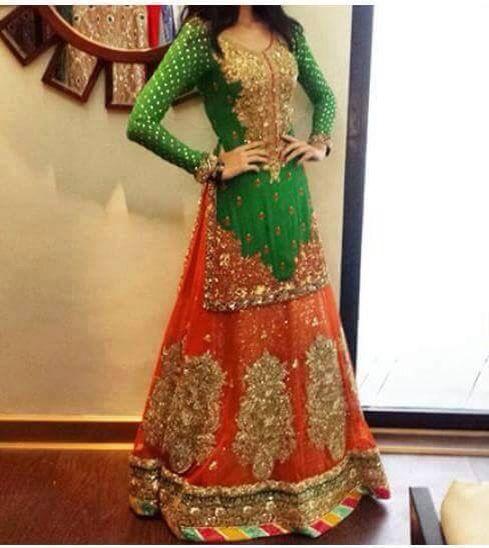 Mehndi Lehenga Combinations : Best images about mehndi dress on pinterest