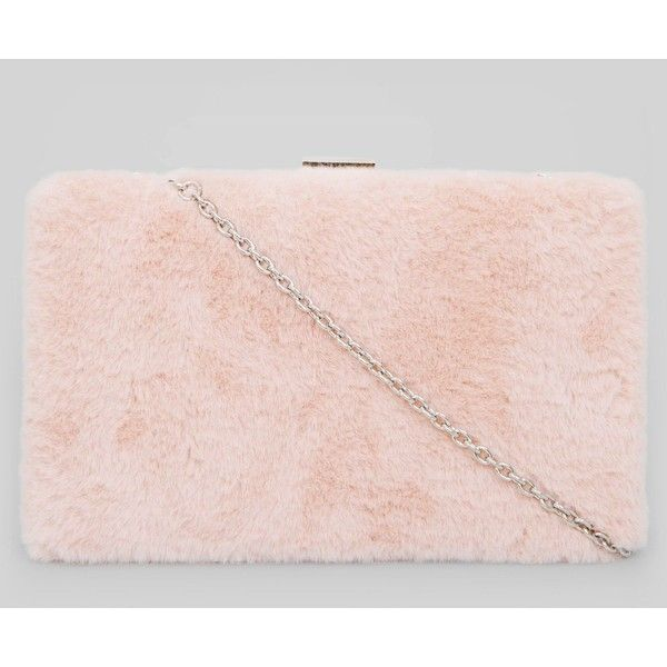 New Look Pink Faux Fur Clutch Bag ($23) ❤ liked on Polyvore featuring bags, handbags, clutches, new look handbags, new look purses, chain handbags, clasp purse and faux fur clutches