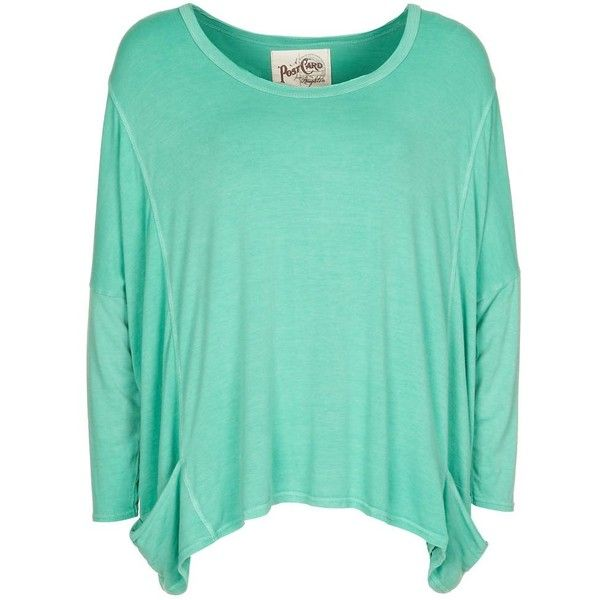 A Postcard From Brighton NEELY Long sleeved top ($49) ❤ liked on Polyvore featuring tops, shirts, blusas, long sleeves, sweaters, green, women's tops, long sleeve shirts, long sleeve tops e green long sleeve shirt