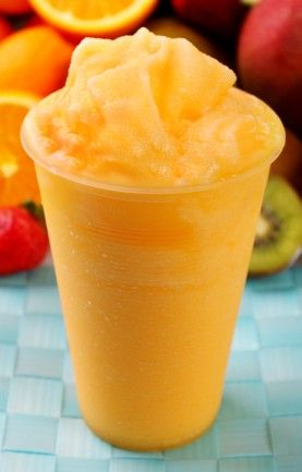 A delicious recipe for Mango Orange Smoothie, with mango and oranges. Non-Alcoholic Ingredients 1 pitted and sliced mango 2 peeled oranges Method Throw everything into a blender and liquify.